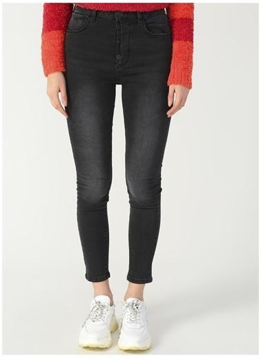 U.S. Polo Assn. U.S. Polo Assn. Yüksek Bel Siyah Denim Pantolon Siyah